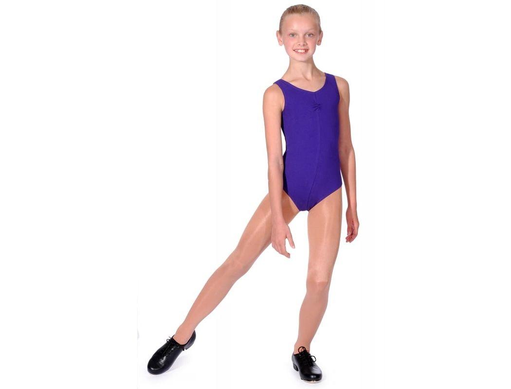 NEW LADIES GIRLS COTTON LYCRA SLEEVELESS LEOTARD GYM DANCE TAP BALLET BBO4-5