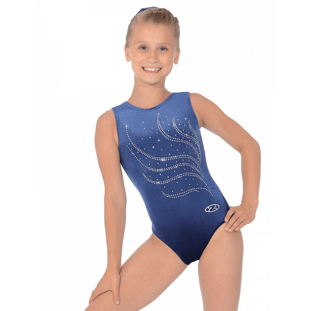 The Zone Classic Long Sleeved Smooth Velour Gymnastics Leotard