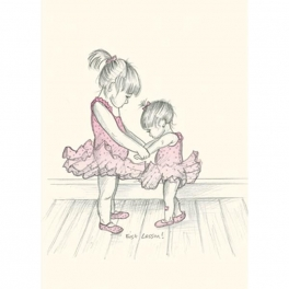 art of dance greetings card - first lesson
