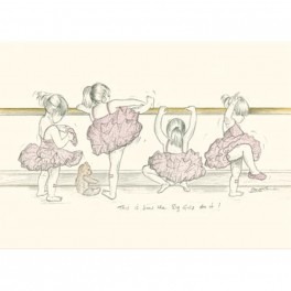 art of dance greetings card - the big girls do it