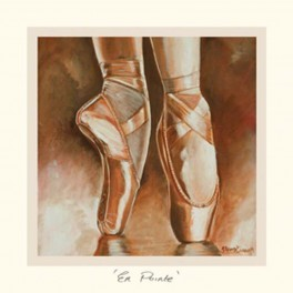 the art of dance greetings card - en pointe