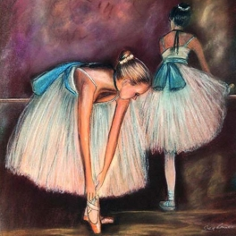 art of dance miniature print - blue ribbons