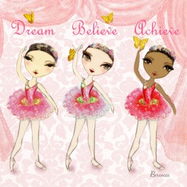 ballet papier believe achieve dance notebook