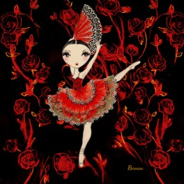 ballet papier kitri dance greetings card