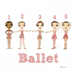 ballet papier ballet positions greetings card