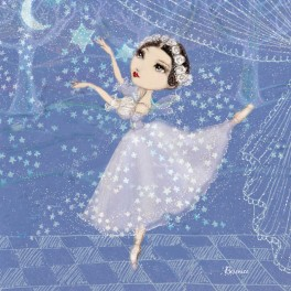 ballet papier sylphide dance greetings card