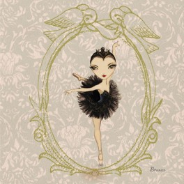 ballet papier black swan greetings card