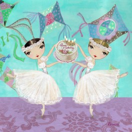 ballet papier birthday ballerinas greetings card