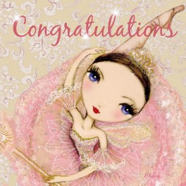 ballet papier congratulations greetings card