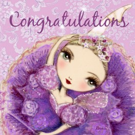 ballet papier congratulations purple card