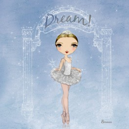 ballet papier dream dance greetings card