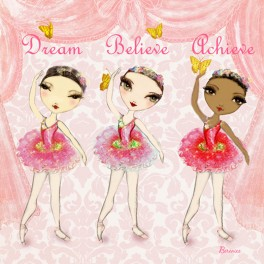ballet papier believe achieve dance greetings card