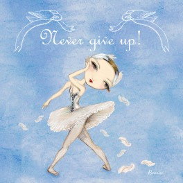 ballet papier never give up greetings card