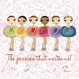 ballet papier passion unites greetings card