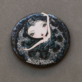 ballet papier black swan pocket mirror