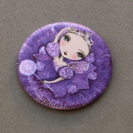 ballet papier lilac fairy pocket mirror