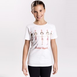 ballet papier ballet positions fitted tee
