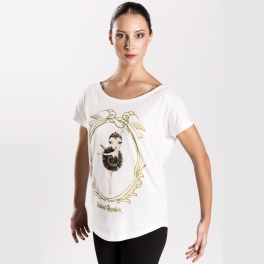 ballet papier black swan loose fit tee