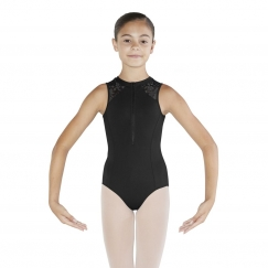 bloch penni bouquet bloom high neck tank leotard