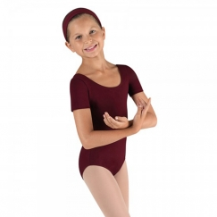 bloch ballet cotton short sleeved leotard