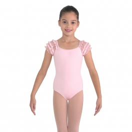 bloch sugar puff sleeve leotard