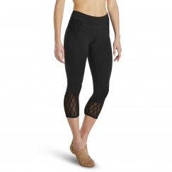 bloch mina and galopin rococo collection capri leggings