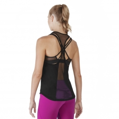 bloch arya open mesh panelled racer back tank top
