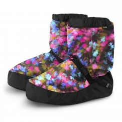 bloch multi floral warm up booties