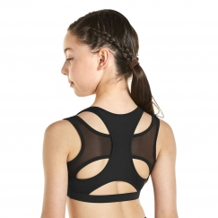 kaia by bloch racer back crop top