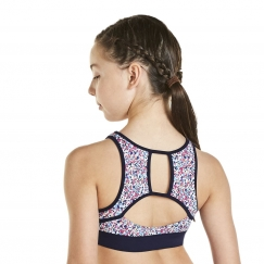 kaia by bloch libery berry open back crop top