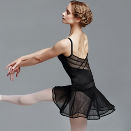 bloch diamond mesh x camisole leotard