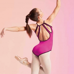 bloch rose foliage cailey reversible keyhole cami leotard