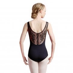 bloch pascual vine flock sweet heart tank leotard
