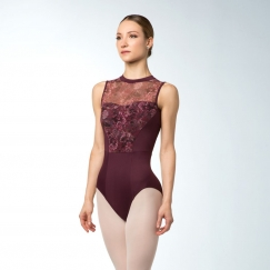 bloch nina bouquet bloom nigh neck tank leotard