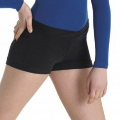 bloch arabesque v front cotton spandex dance shorts