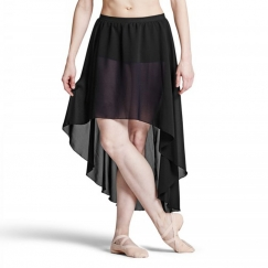bloch daria graduated georgette dance skirt with shorts