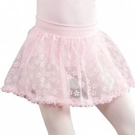 capezio pull-on ruffle-trim skirt