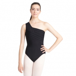 capezio one-shoulder leotard