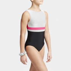 capezio metallic accent sleeveless leotard