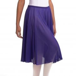 capezio mid calf full circle georgette skirt