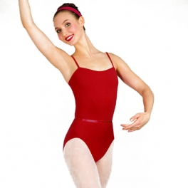 capezio class regulation leotard with belt