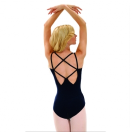 capezio lattice-back camisole leotard