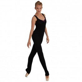 capezio eyelet knitted jumpsuit
