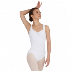 capezio tactel wide strap tank leotard