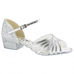 "freed sparkle 1"" low heel children's latin & salsa shoe"