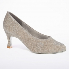 dance steps by freed pearl sparkle lurex court shoe