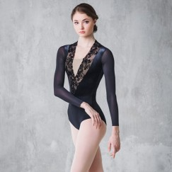 grishko bolshoi stars jewel collection long sleeve leotard