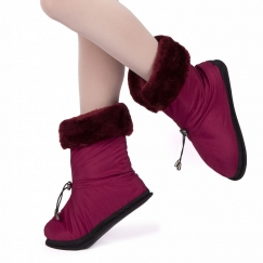 grishko faux fur lined warm up booties
