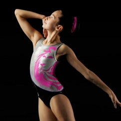 leos lion tank round neck gymnastics leotard