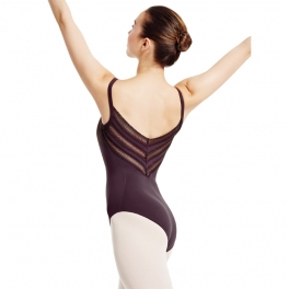 mirella stretch camisole v  back leotard